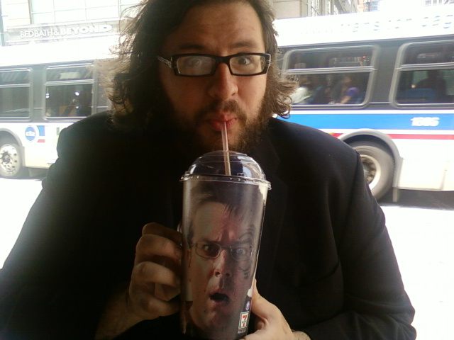 Ed Helms cup drinking