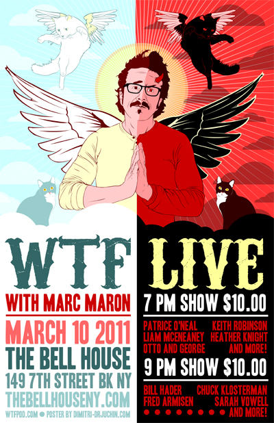 wtf live bell house poster