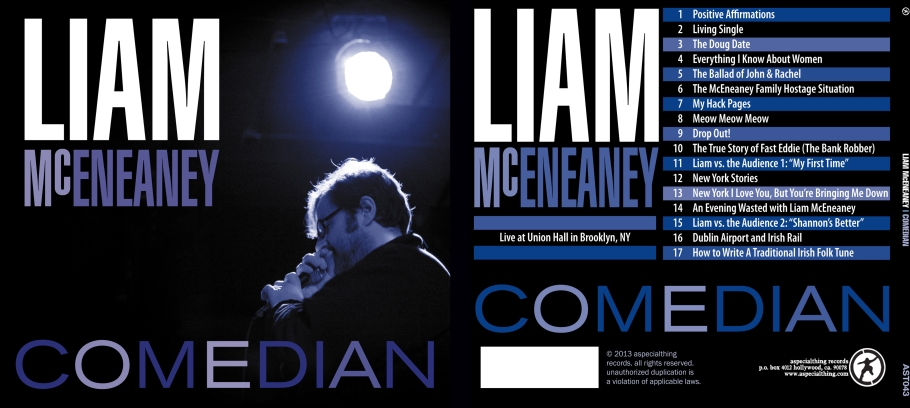 Comedian album cover front and back
