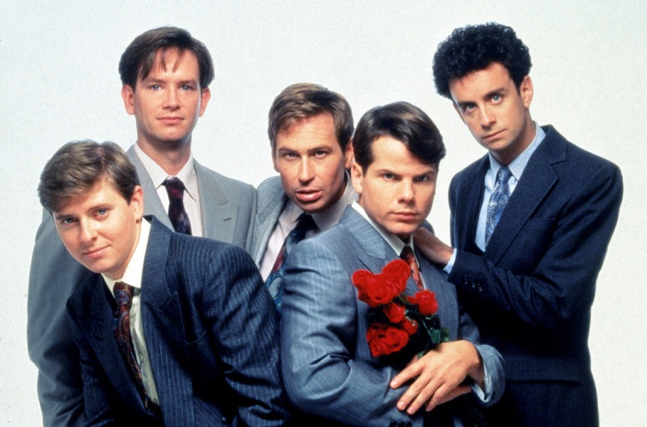 Cast photo of Kids in the Hall.  Dave Foley, Mark McKinney, Scott Thompson, Bruce McCulloch and Kevin McDonald (from left)