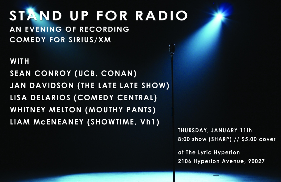 sirius recording show poster